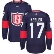 Wholesale Cheap Team USA #17 Ryan Kesler Navy Blue 2016 World Cup Stitched Youth NHL Jersey