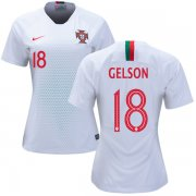 Wholesale Cheap Women's Portugal #18 Gelson Away Soccer Country Jersey