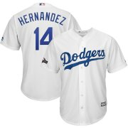 Wholesale Cheap Los Angeles Dodgers #14 Enrique Hernandez Majestic 2019 Postseason Home Official Cool Base Player Jersey White