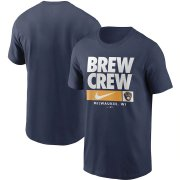 Wholesale Cheap Milwaukee Brewers Nike Local Nickname T-Shirt Navy