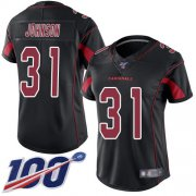 Wholesale Cheap Nike Cardinals #31 David Johnson Black Women's Stitched NFL Limited Rush 100th Season Jersey