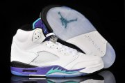 Wholesale Cheap WMS Jordan 5 Shoes White/Purple