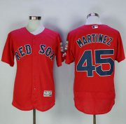 Wholesale Cheap Red Sox #45 Pedro Martinez Red Flexbase Authentic Collection Stitched MLB Jersey