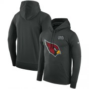 Wholesale Cheap NFL Men's Arizona Cardinals Nike Anthracite Crucial Catch Performance Pullover Hoodie