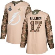 Wholesale Cheap Adidas Lightning #17 Alex Killorn Camo Authentic 2017 Veterans Day Youth 2020 Stanley Cup Final Stitched NHL Jersey
