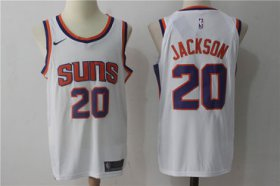 Wholesale Cheap Men\'s Phoenix Suns #20 Josh Jackson New White 2017-2018 Nike Swingman Stitched NBA Jersey