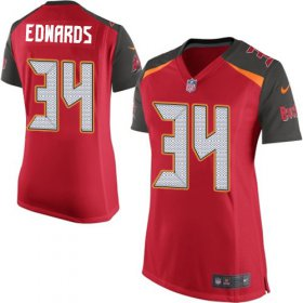 Wholesale Cheap Nike Buccaneers #34 Mike Edwards Red Team Color Women\'s Stitched NFL New Elite Jersey