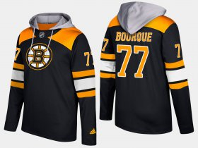 Wholesale Cheap Bruins #77 Ray Bourque Black Name And Number Hoodie