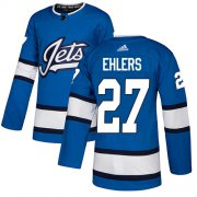 Wholesale Cheap Adidas Jets #27 Nikolaj Ehlers Blue Alternate Authentic Stitched NHL Jersey