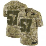 Wholesale Cheap Nike Bills #57 Lorenzo Alexander Camo Men's Stitched NFL Limited 2018 Salute To Service Jersey