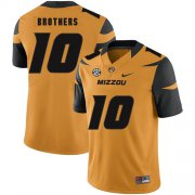 Wholesale Cheap Missouri Tigers 10 Kentrell Brothers Gold Nike College Football Jersey