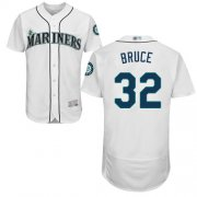 Wholesale Cheap Mariners #32 Jay Bruce White Flexbase Authentic Collection Stitched MLB Jersey