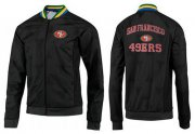 Wholesale Cheap NFL San Francisco 49ers Heart Jacket Black_2