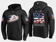 Wholesale Cheap Ducks #38 Derek Grant NHL Banner Wave Usa Flag Black Hoodie