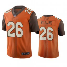 Wholesale Cheap Cleveland Browns #26 Greedy Williams Brown Vapor Limited City Edition NFL Jersey