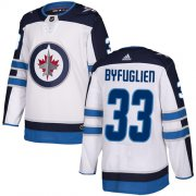 Wholesale Cheap Adidas Jets #33 Dustin Byfuglien White Road Authentic Stitched Youth NHL Jersey