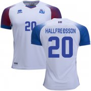 Wholesale Cheap Iceland #20 Hallfredsson Away Soccer Country Jersey