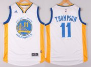 Wholesale Cheap Golden State Warriors #11 Klay Thompson Revolution 30 Swingman 2014 New White Jersey