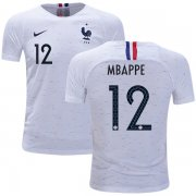Wholesale Cheap France #12 Mbappe Away Kid Soccer Country Jersey