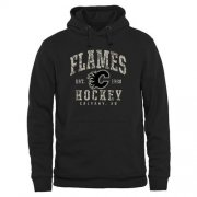 Wholesale Cheap Men's Calgary Flames Black Camo Stack Pullover Hoodie