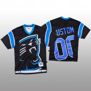 Wholesale Cheap NFL Carolina Panthers Custom Black Men's Mitchell & Nell Big Face Fashion Limited NFL Jersey