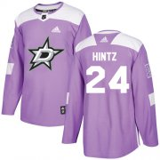 Cheap Adidas Stars #24 Roope Hintz Purple Authentic Fights Cancer Youth Stitched NHL Jersey