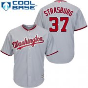 Wholesale Cheap Nationals #37 Stephen Strasburg Grey Cool Base Stitched Youth MLB Jersey