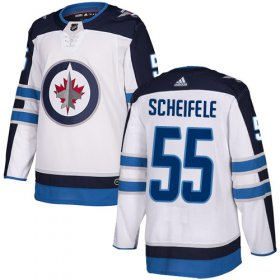 Wholesale Cheap Adidas Jets #55 Mark Scheifele White Road Authentic Stitched Youth NHL Jersey