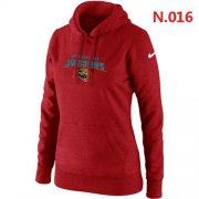 Wholesale Cheap Women's Nike Jacksonville Jaguars Heart & Soul Pullover Hoodie Red