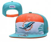 Wholesale Cheap Dolphins Team Logo Aque 2019 Draft Adjustable Hat YD