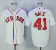 Wholesale Cheap Red Sox #41 Chris Sale White New Cool Base Stitched MLB Jersey