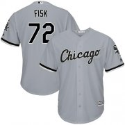 Wholesale Cheap White Sox #72 Carlton Fisk Grey Road Cool Base Stitched Youth MLB Jersey