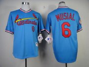 Wholesale Cheap Cardinals #6 Stan Musial Blue 1982 Turn Back The Clock Stitched MLB Jersey
