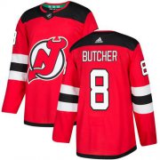 Wholesale Cheap Adidas Devils #8 Will Butcher Red Home Authentic Stitched NHL Jersey