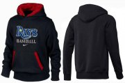Wholesale Cheap Tampa Bay Rays Pullover Hoodie Black & Red