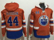 Wholesale Cheap Oilers #44 Zack Kassian Orange Name & Number Pullover NHL Hoodie