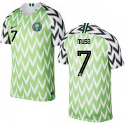 Wholesale Cheap Nigeria #7 Musa Home Soccer Country Jersey