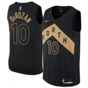 Wholesale Cheap Nike Toronto Raptors #10 DeMar DeRozan Black NBA Swingman City Edition Jersey