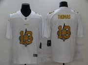 Wholesale Cheap Men's New Orleans Saints #13 Michael Thomas White 2020 Shadow Logo Vapor Untouchable Stitched NFL Nike Limited Jersey