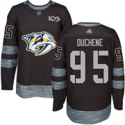 Wholesale Cheap Adidas Predators #95 Matt Duchene Black 1917-2017 100th Anniversary Stitched NHL Jersey