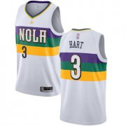 Wholesale Cheap Pelicans #3 Josh Hart White Basketball Swingman City Edition 2018-19 Jersey