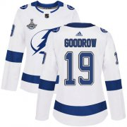 Cheap Adidas Lightning #19 Barclay Goodrow White Road Authentic Women's 2020 Stanley Cup Champions Stitched NHL Jersey