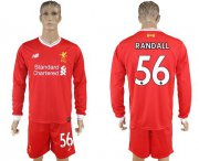 Wholesale Cheap Liverpool #56 Randall Home Long Sleeves Soccer Club Jersey