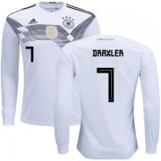 Wholesale Cheap Germany #7 Draxler Home Long Sleeves Kid Soccer Country Jersey