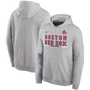 Wholesale Cheap Boston Red Sox Nike Color Bar Club Pullover Hoodie Gray