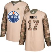 Wholesale Cheap Adidas Oilers #17 Jari Kurri Camo Authentic 2017 Veterans Day Stitched NHL Jersey