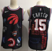 Wholesale Cheap Raptors #15 Vince Carter Black Basketball Swingman Jointly Team Jersey