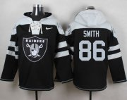 Wholesale Cheap Nike Raiders #86 Lee Smith Black Player Pullover NFL Hoodie