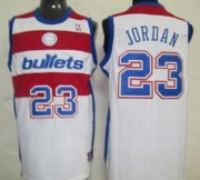 Wholesale Cheap Washington Bullets #23 Michael Jordan White Swingman Throwback Jersey