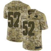 Wholesale Cheap Nike Rams #52 Clay Matthews Camo Men's Stitched NFL Limited 2018 Salute To Service Jersey
